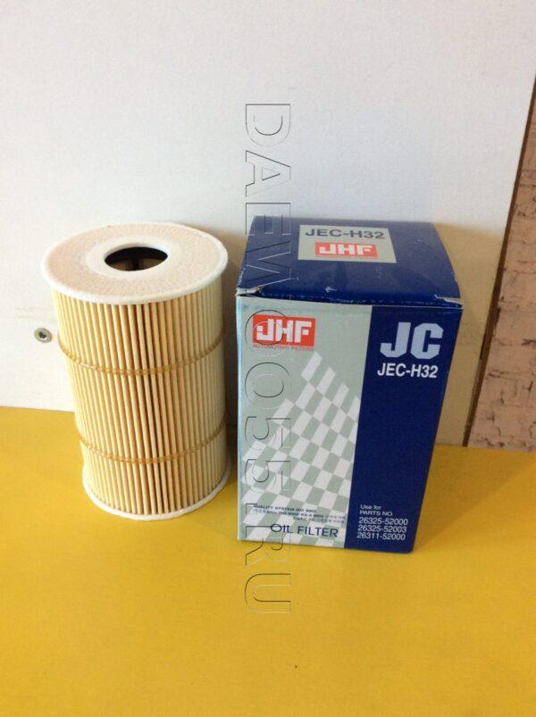 Фильтр масляный D4GAD6GA (евро 4) HD78HD120 (JECH32) 26325-52003, 2632552003