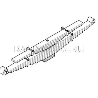 Рессора задняя Daewoo 34231-04800 (низкорамник)